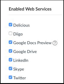 Ver servicios web