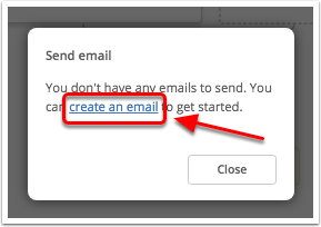 Click create an email