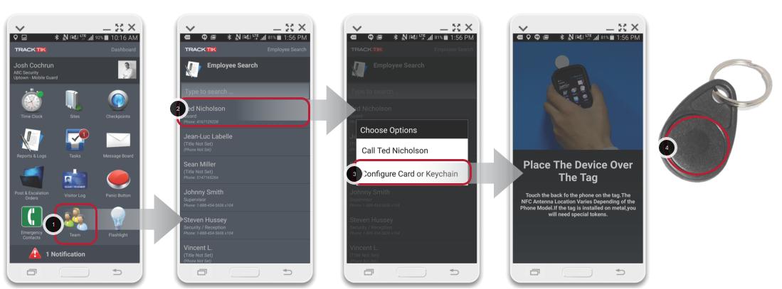 Configure a New NFC Card or Keychain