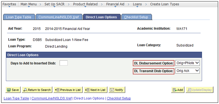 direct loan options