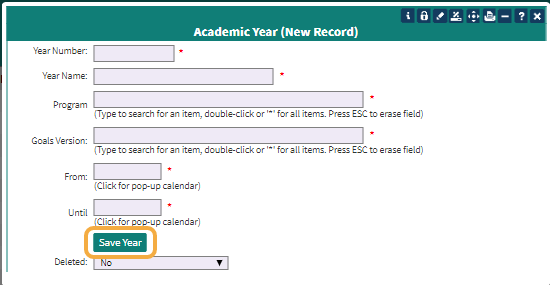 Academic Year New Record
