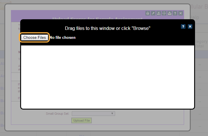 Step 6: Browse for csv file