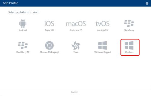 Add a Windows Profile