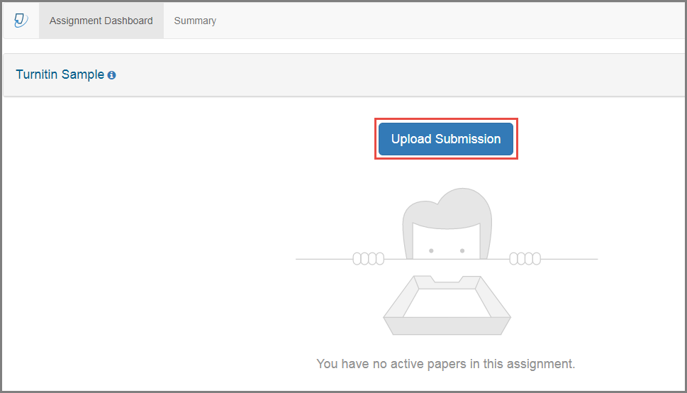 Upload document submission button