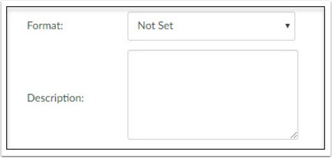 format and description fields are not used in meaningful ways to us