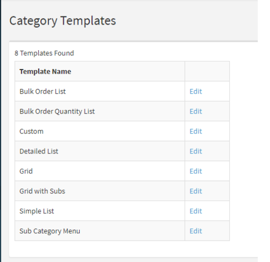 Category Templates