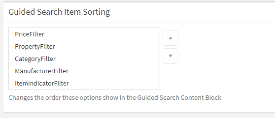 Guided Search Item Sorting
