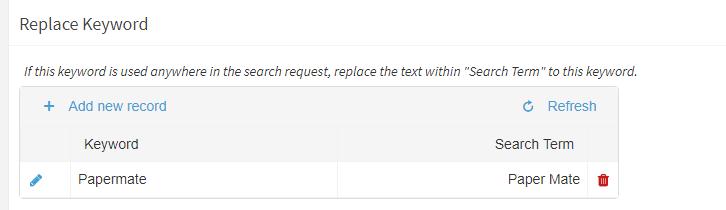 Replace Keyword