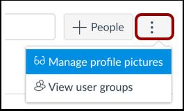 Gerenciar imagens do perfil