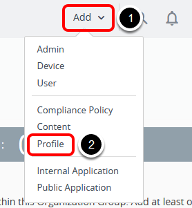 Add a Restriction Profile