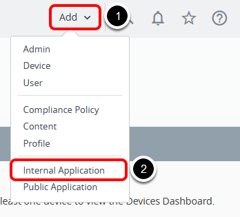 Add Internal Application