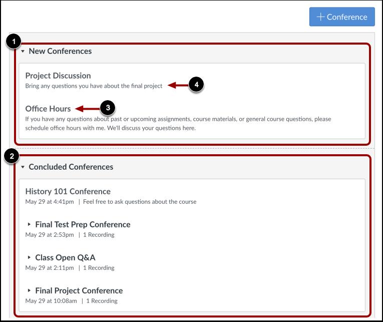 Visualizar conferências
