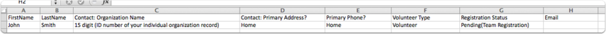 Step 1: Use this .csv template to prepare your contacts for import.