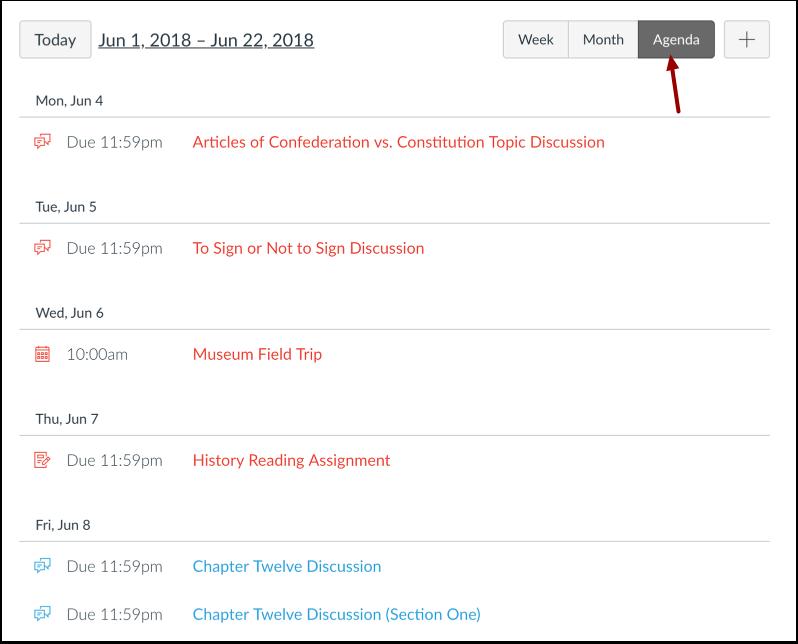 Ver agenda de calendario