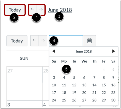 View Calendar by Month