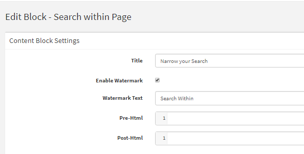 Search Within Page