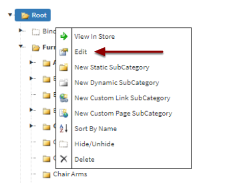 Edit Categories