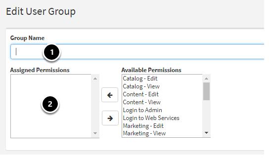 Add/Edit User Group