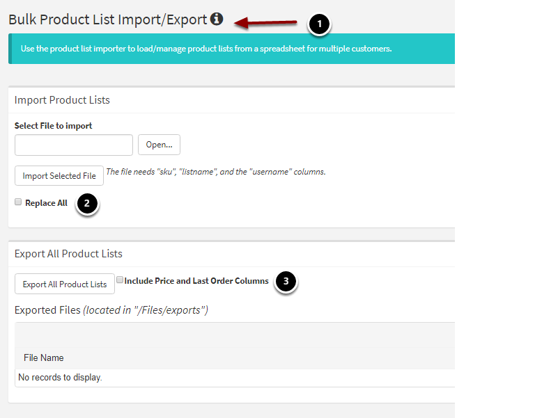 Product List Import/Export