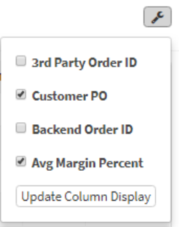 Column Display Options
