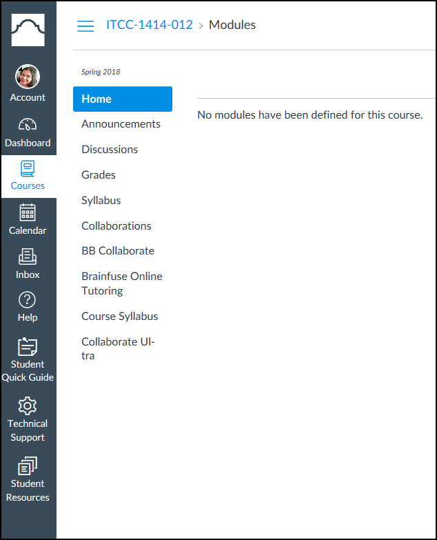 Your Canvas course will open for your learning to proceed