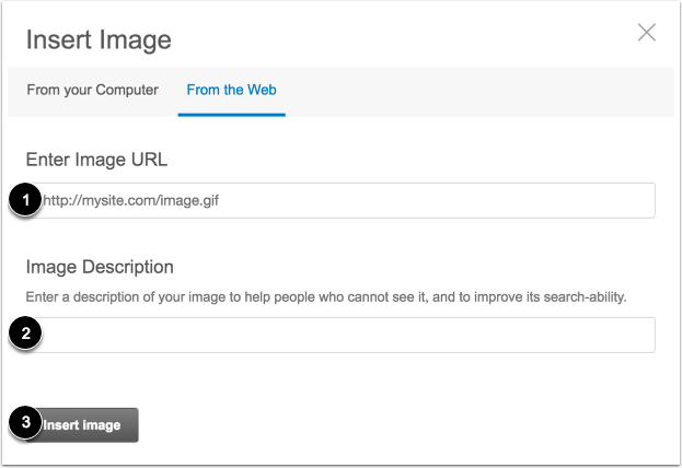 Select Image from the Web