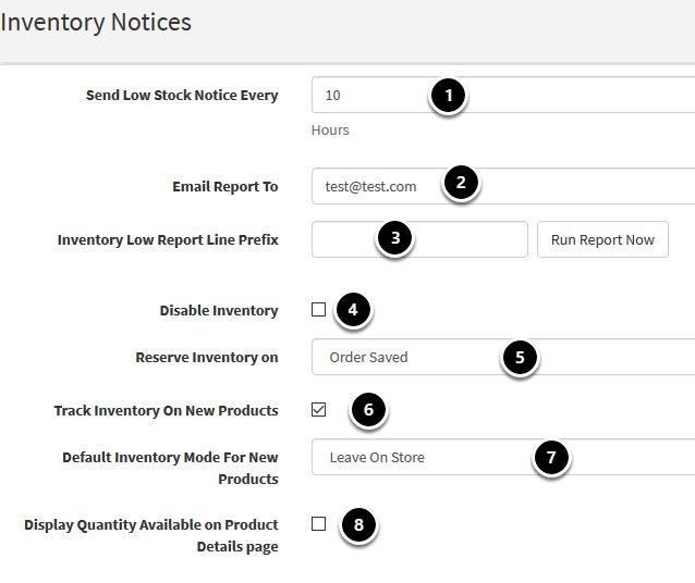 Inventory Notices