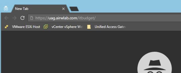 Access internal website via UAG