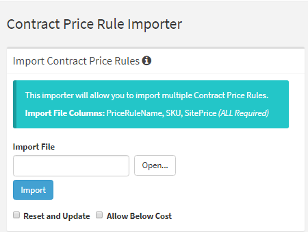 Contract Price Rule Importer