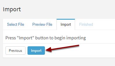 Begin Importing