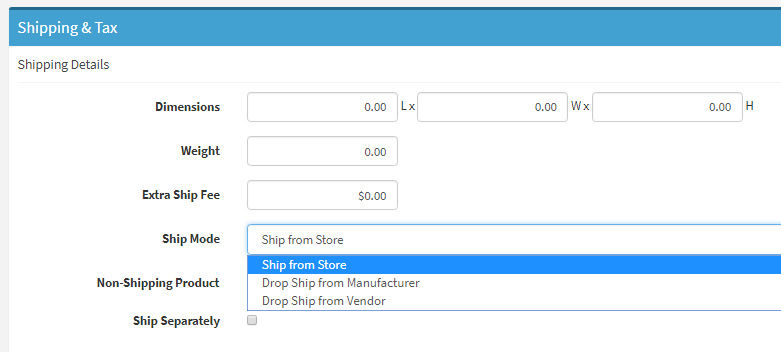 "Changing A Product To ""Drop Ship From Vendor"""