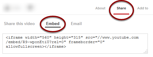Getting your video Embed Code