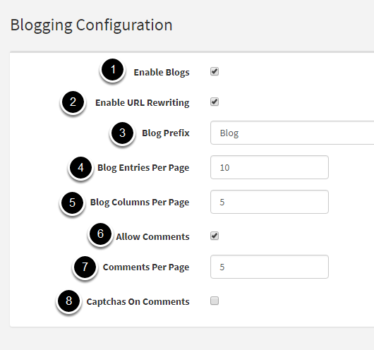 Blogging Configuration