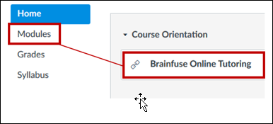 Brainfuse link in Modules