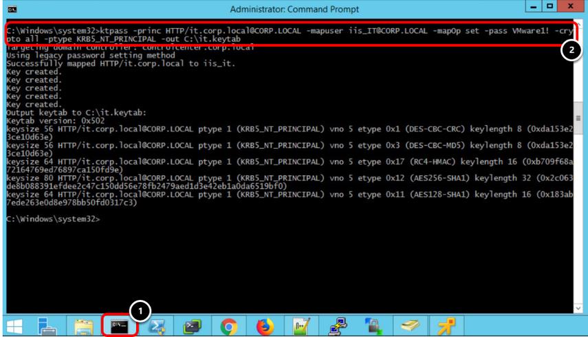 Creating Keytab file