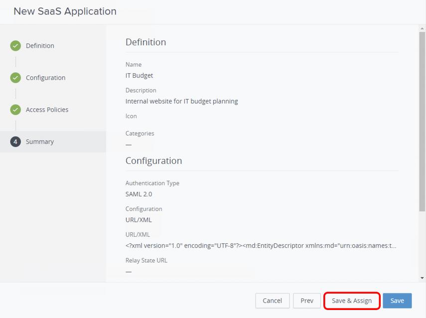 Save WebApp configuration