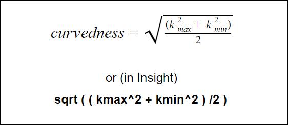 curvedness formula