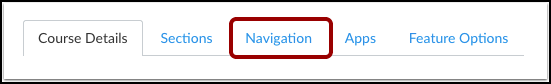 Click on the navigation tab