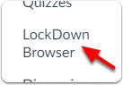 Click on LockDown Browser