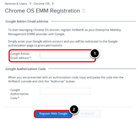 Register to manage Chrome devices with Google device management