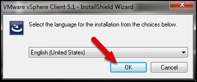 Select Setup Language then click OK.