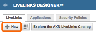 Click the New Livelinks Designer