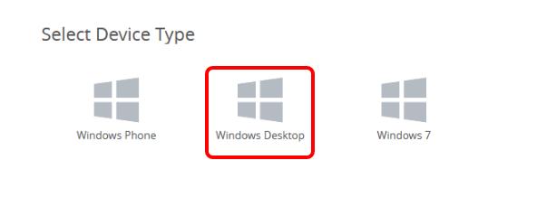 Add a Windows Desktop Profile