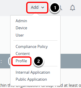 Add a Restriction Profile