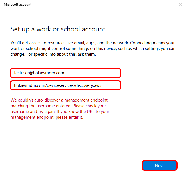 Connecting to Windows Auto Discovery Service