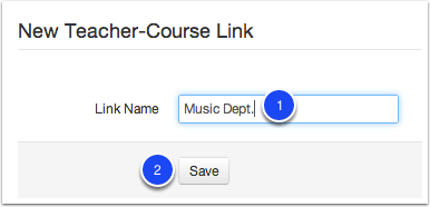 New Teacher-Course Link