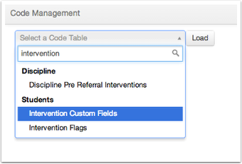 Setup Code Management