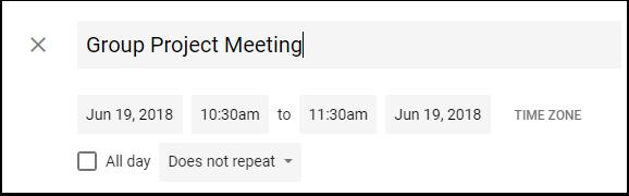 Google Calendar Event title