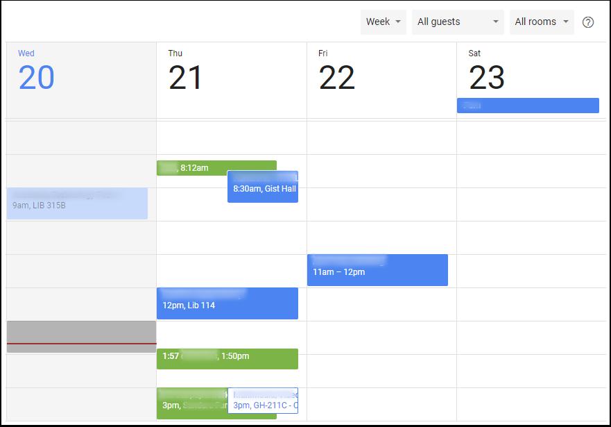 Google Calendar Event - Find a Time