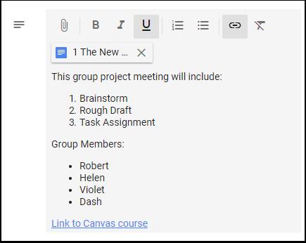Google Calendar Event description